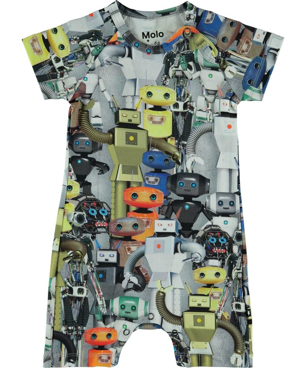 Felton - Robots - Baby romper with robot print.