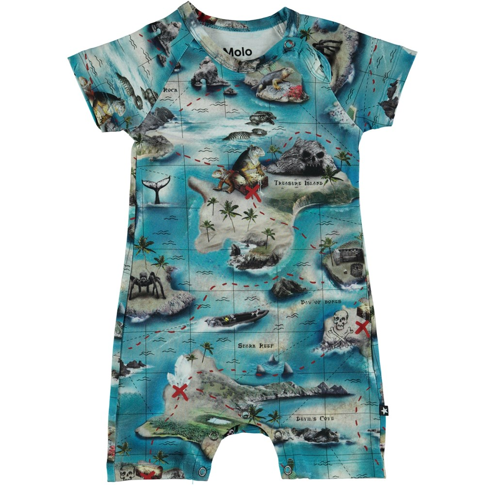 Felton - Treasure Map - Baby Romper - S