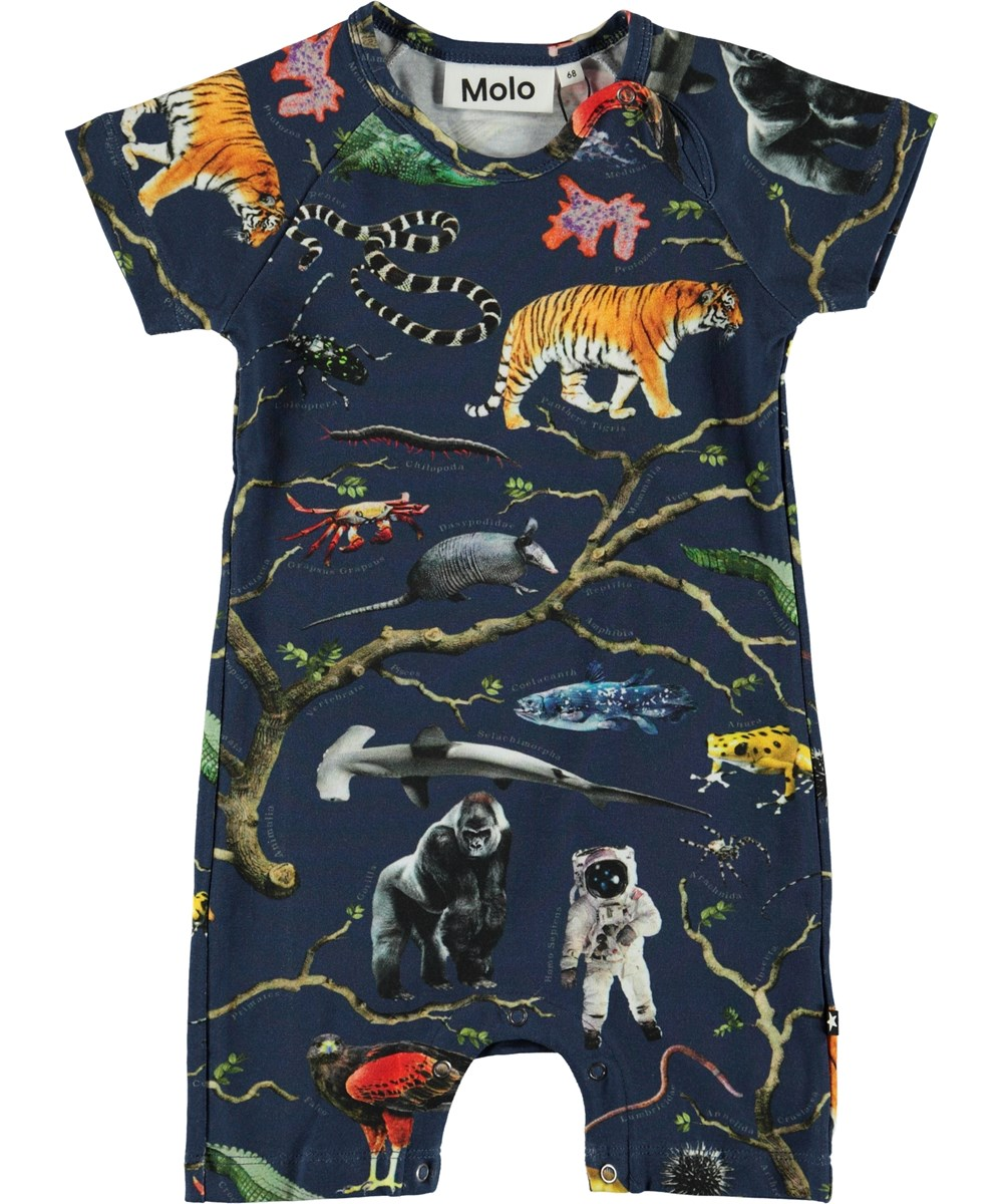 Felton - Tree Of Life - Organic baby bodysuit with a tree and animals