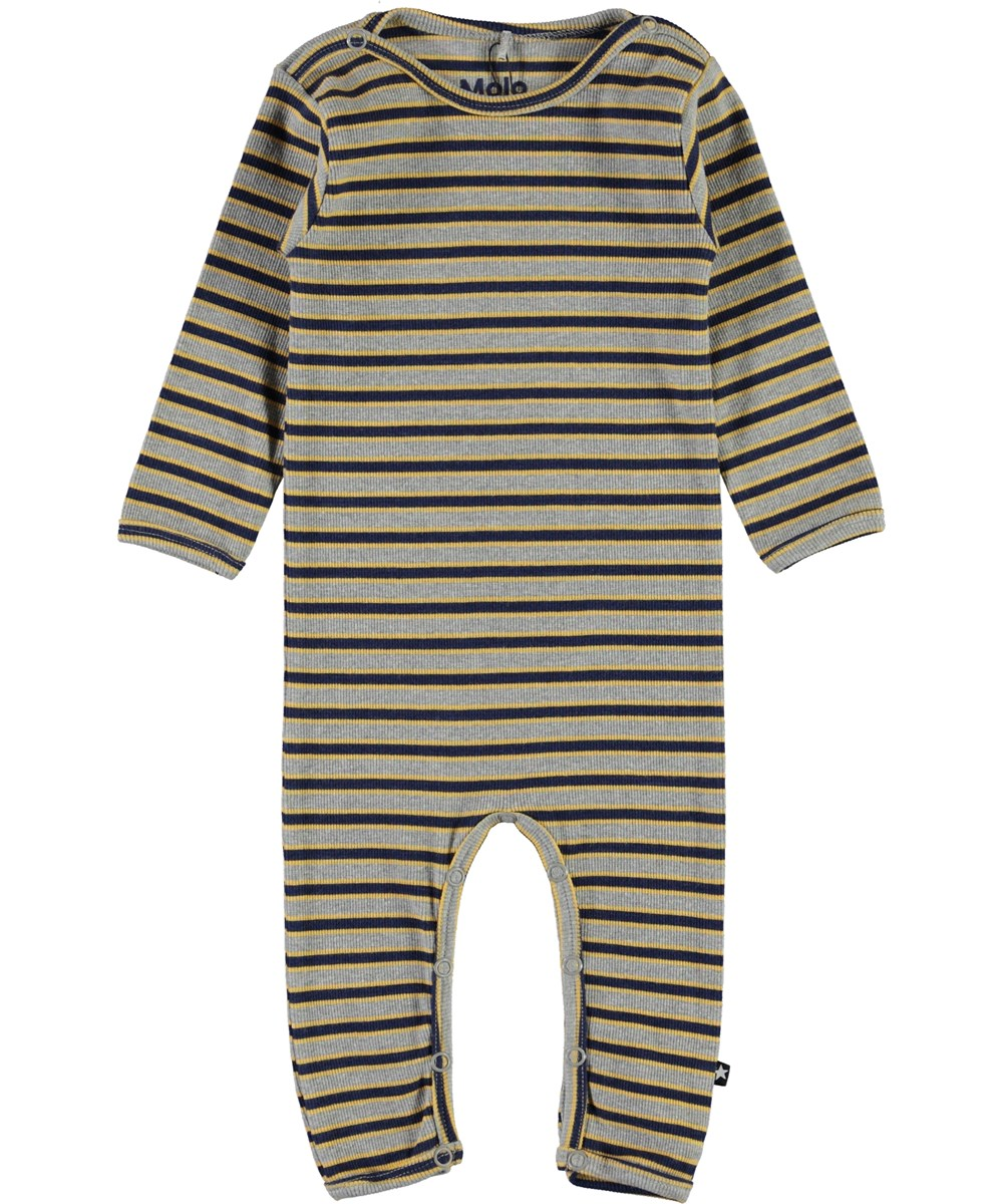 Fenez - 3 Colour Stripe - Striped rib baby bodysuit