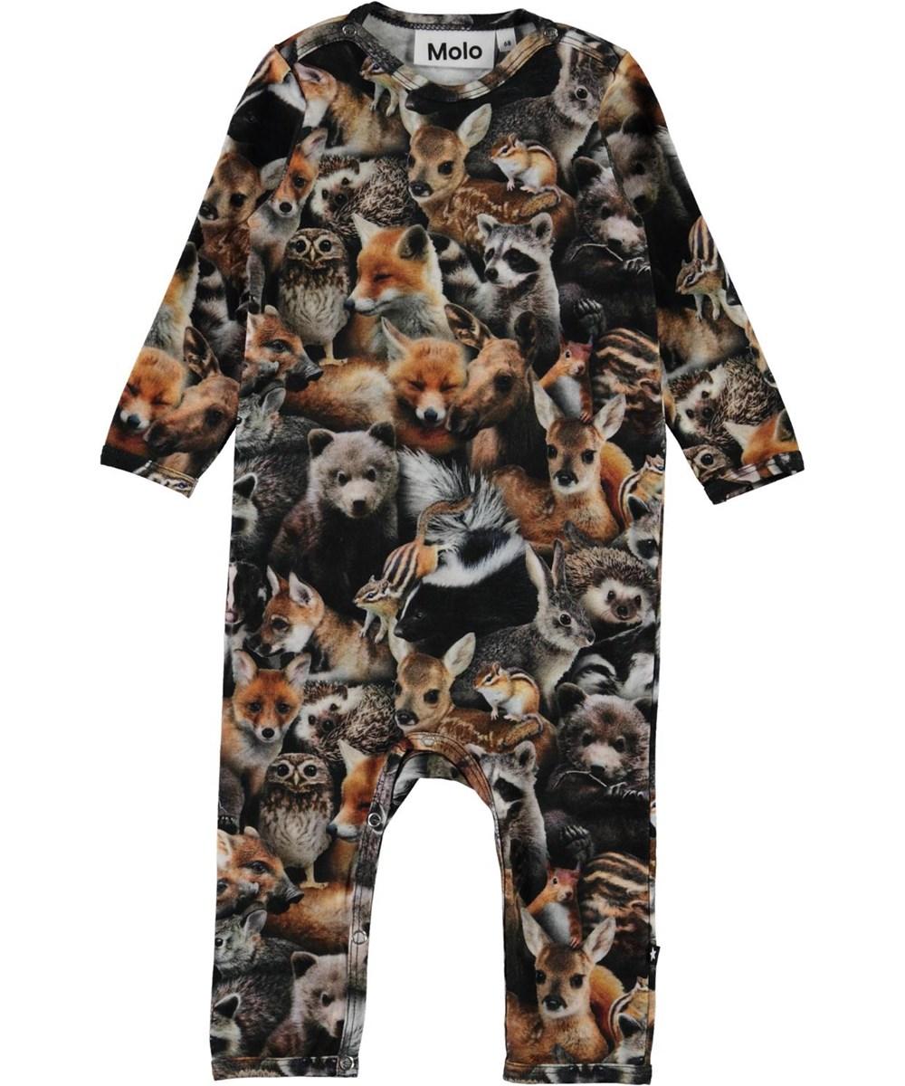 Fenez - Forest Animals - Organic baby bodysuit with animal print