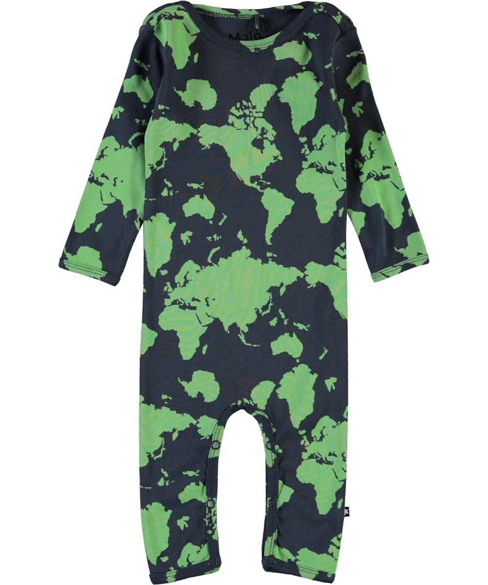 Fenez - Small World - Baby bodysuit with a map of the world print