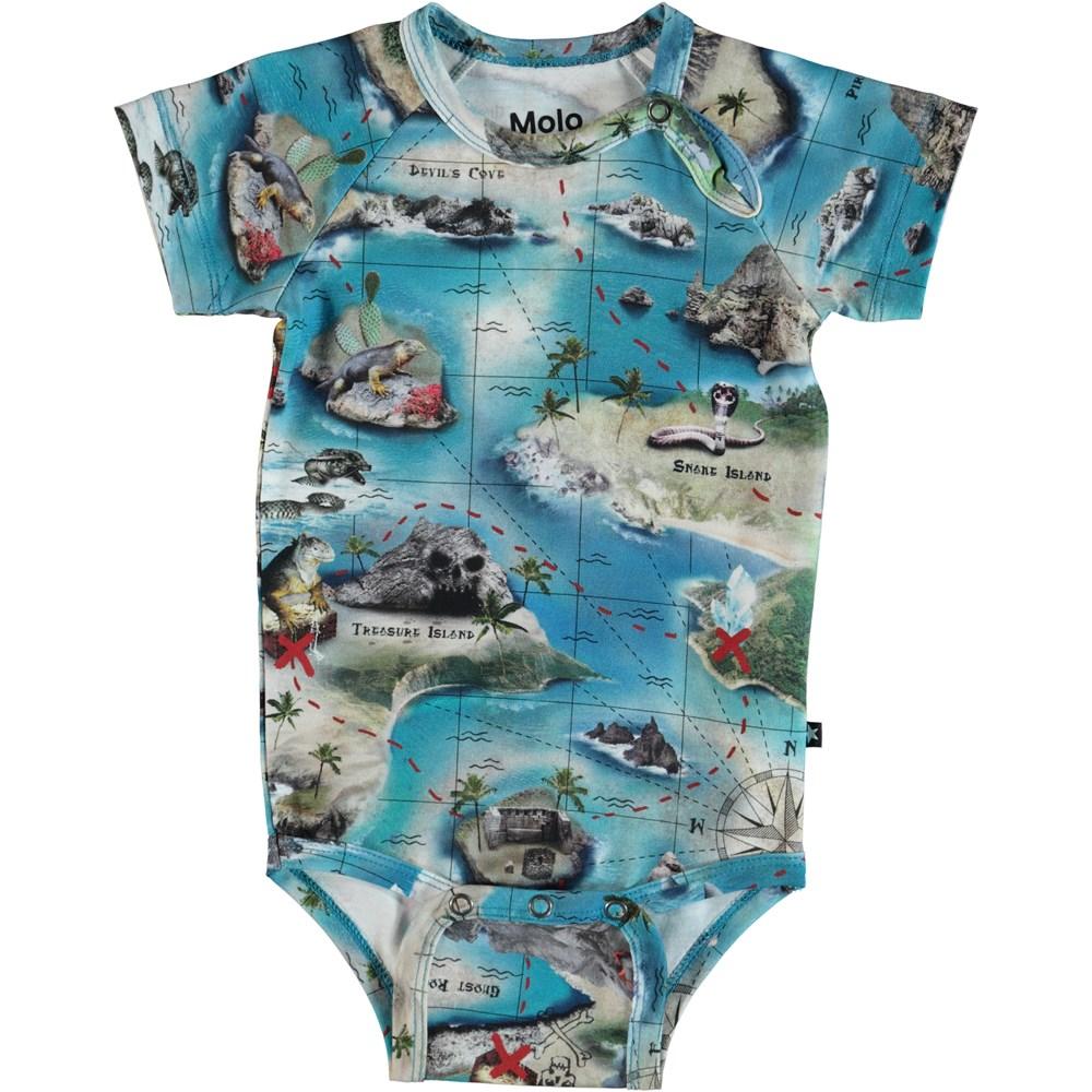 Feodor - Treasure Map - Baby Bodysuit - S