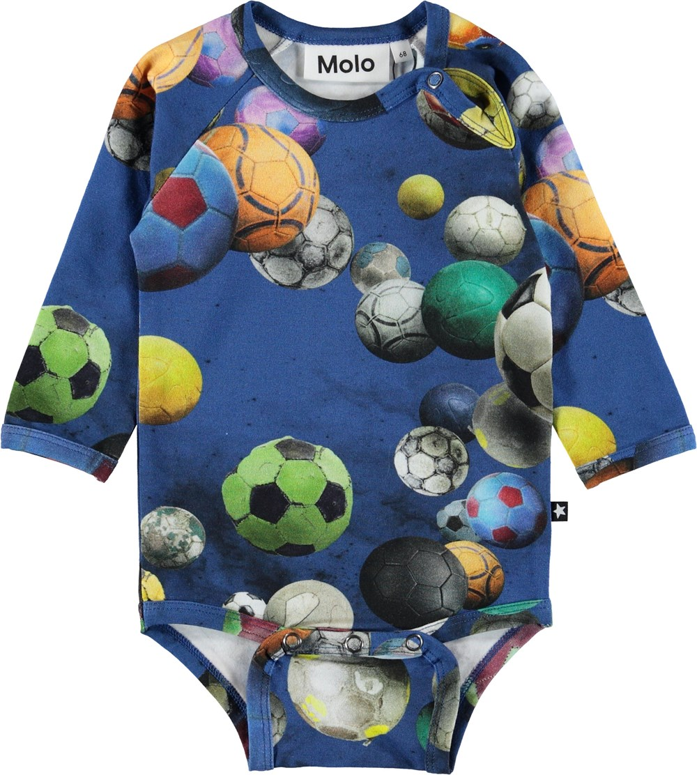 Field - Cosmic Footballs - Baby bodysuit with footballs.