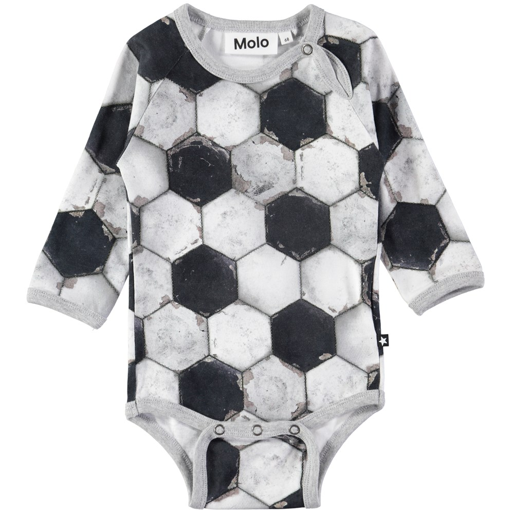 Field - Football Structure - Long sleeve baby bodysuit with digital football print