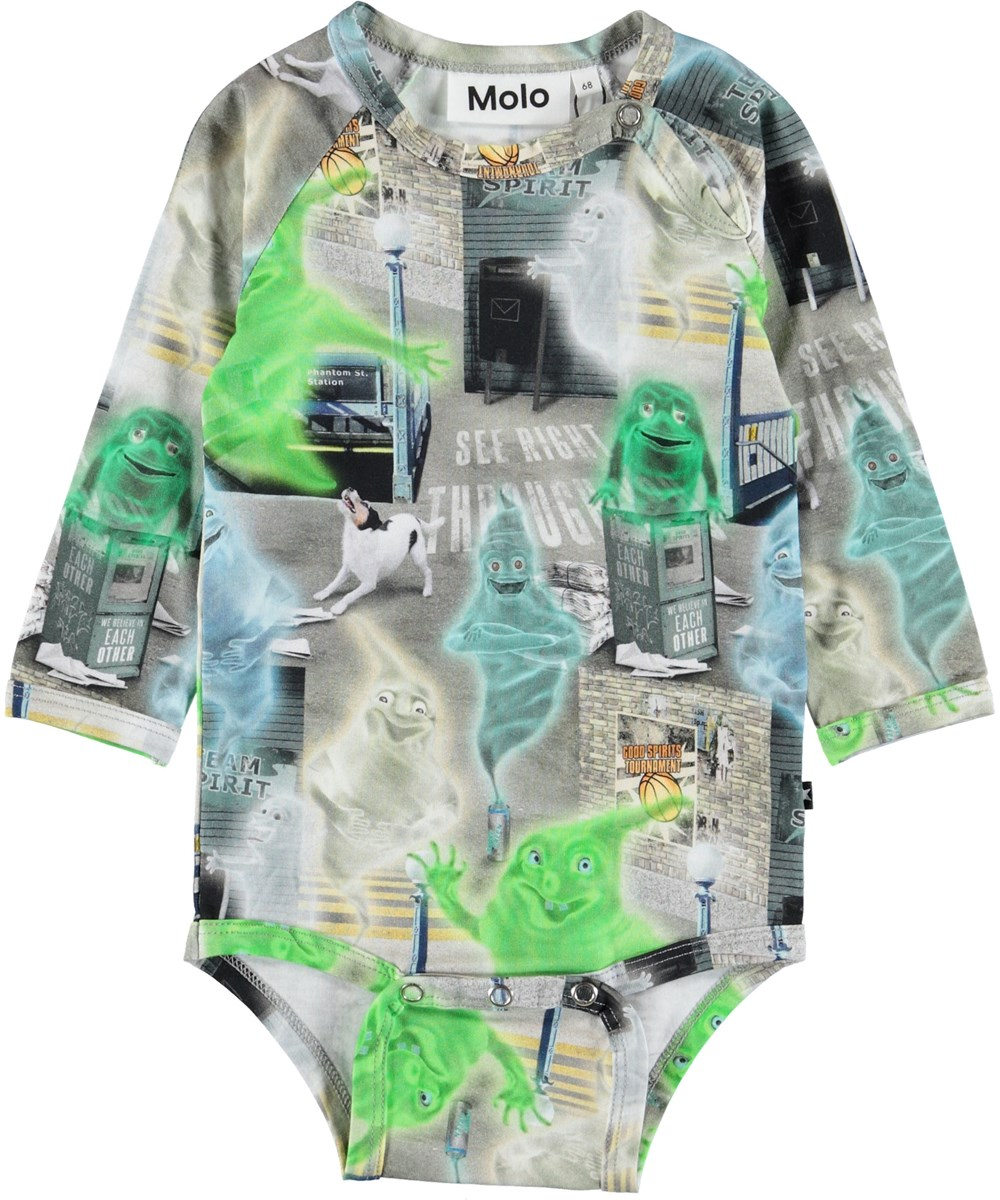 Field - Ghost City - Baby bodysuit with ghosts.