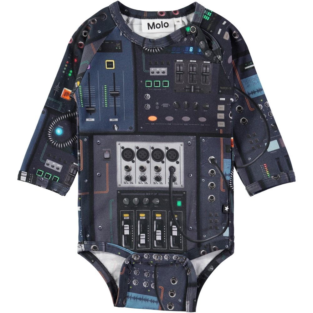 Field - Mixer - Long sleeve baby bodysuit with digital mixer print