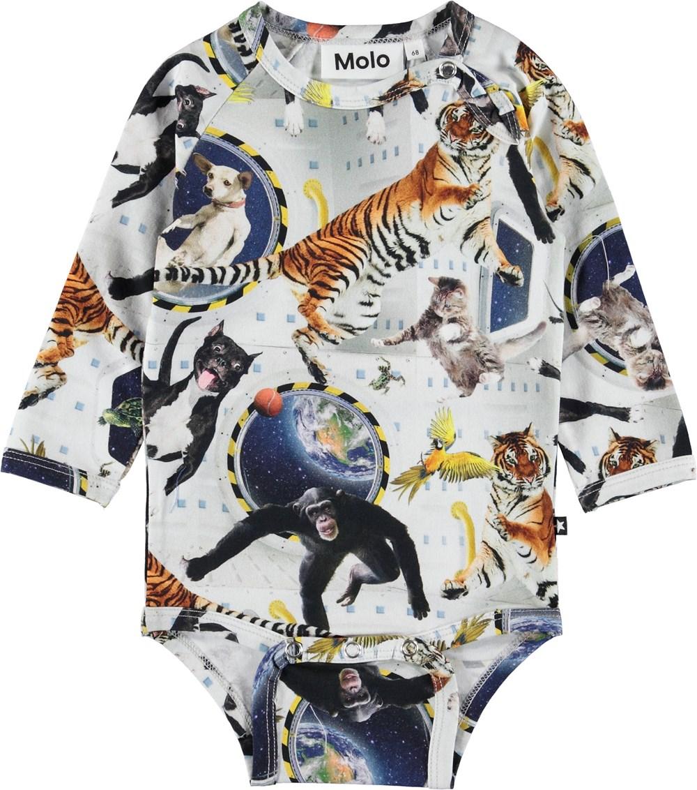 Field - No Gravity - Baby bodysuit with animals.