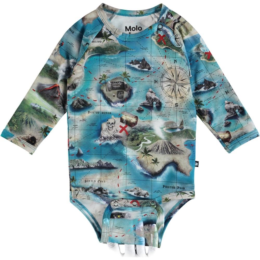 Field - Treasure Map - Molo Baby Bodysuit - S