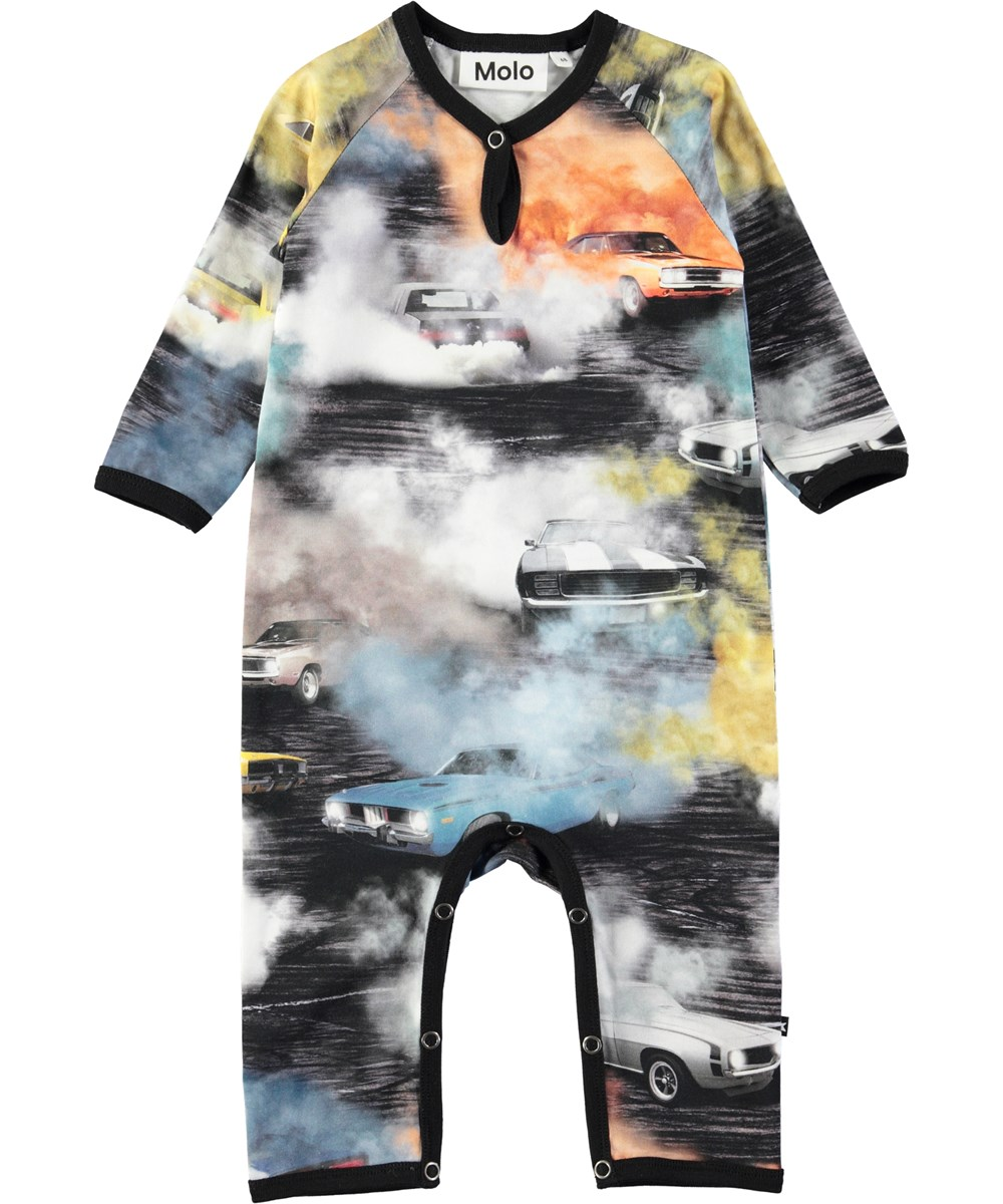 Fleming - Burnout - Baby romper with digital burnout print