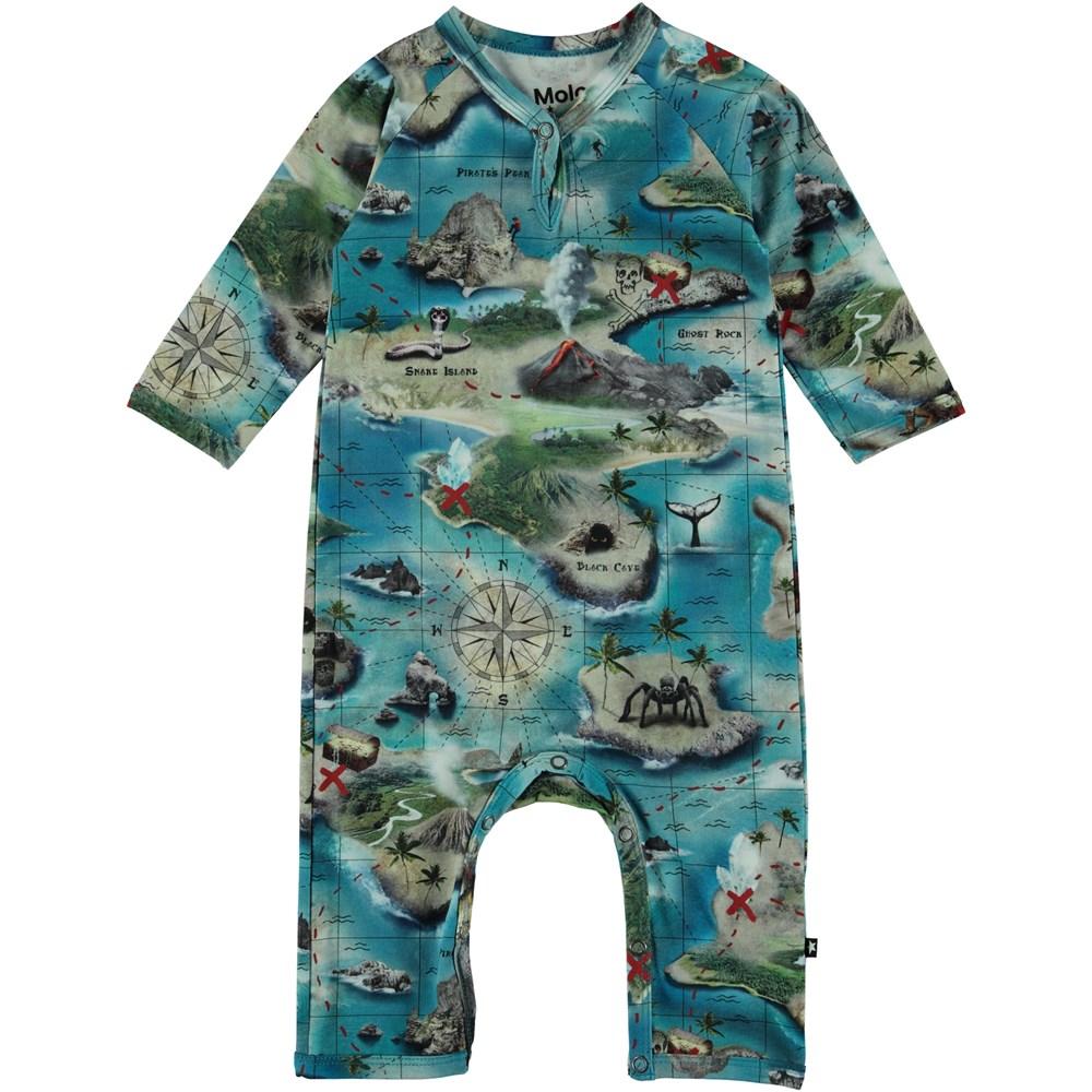 Fleming - Treasure Map - Baby Romper