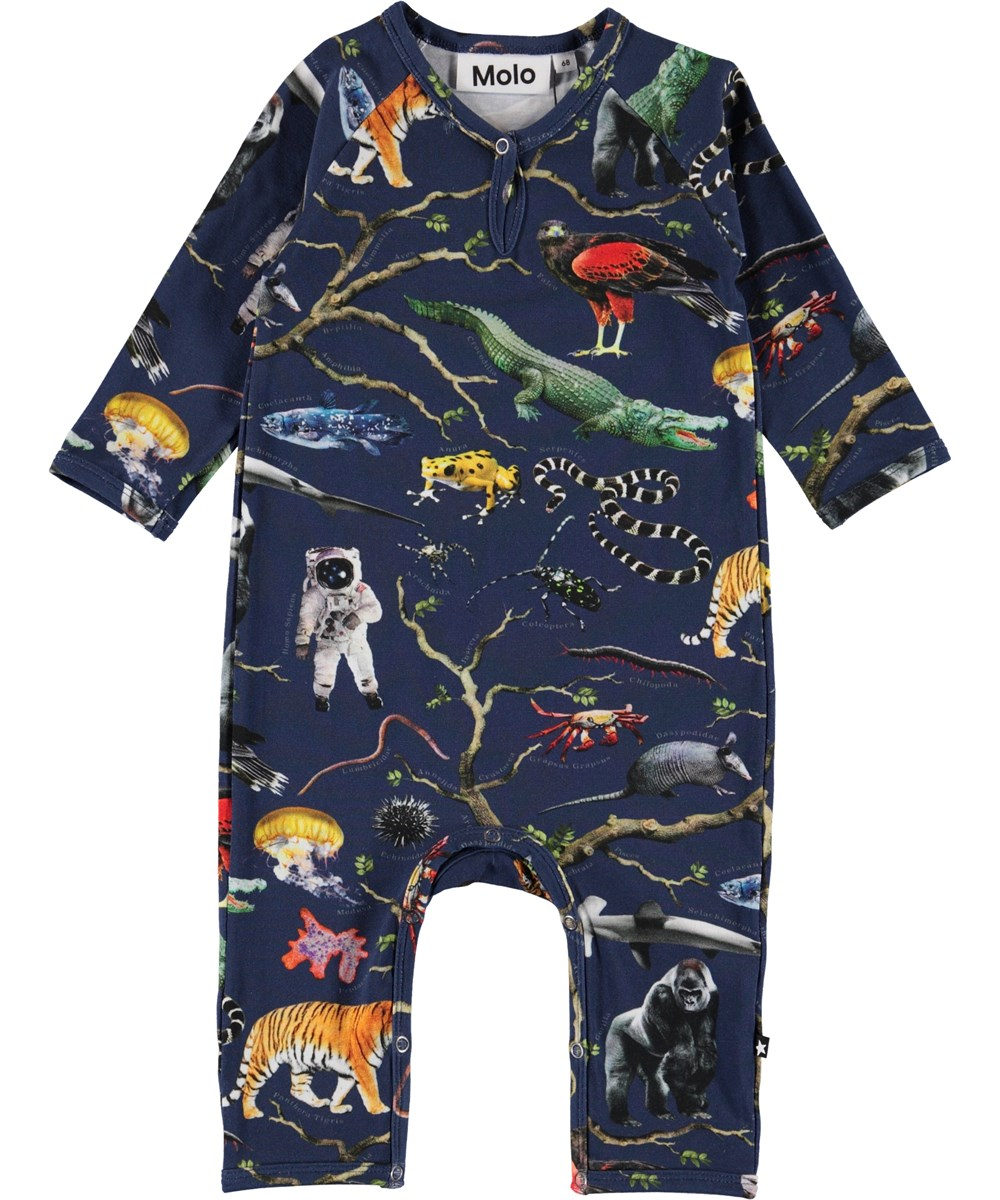 Fleming - Tree Of Life - Organic baby bodysuit with a tree and animals