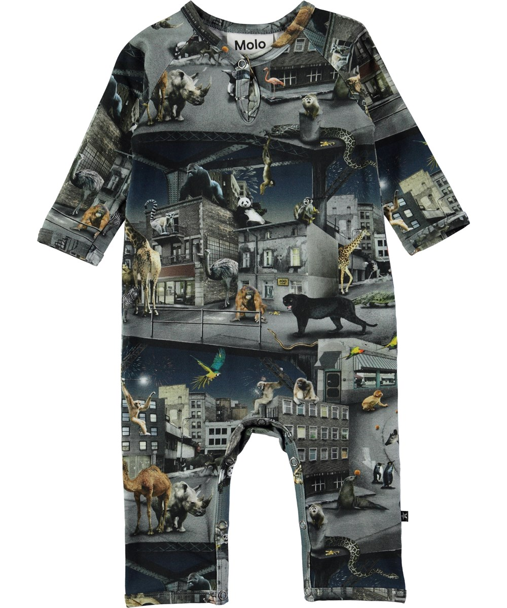 Fleming - Zoo Rebellion - Baby romper with digital zoo print