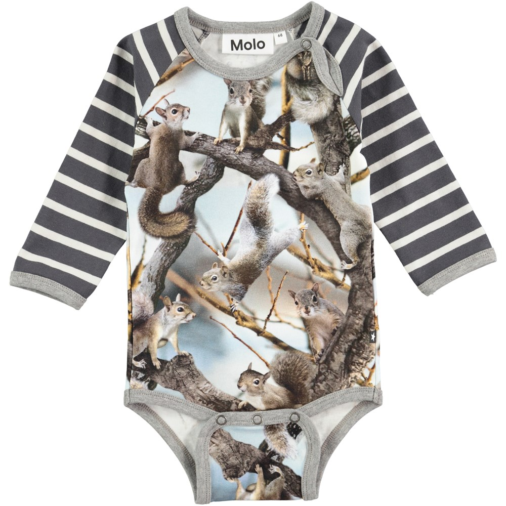 Floyd Squirrels Long Sleeve Body Stocking With Squirrel Print Molo