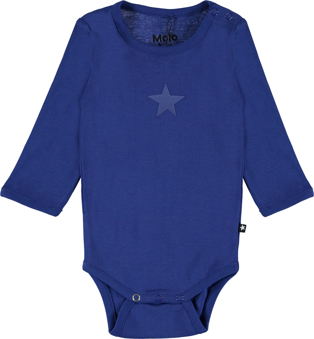 Foss - Royal Blue - Organic blue baby bodysuit