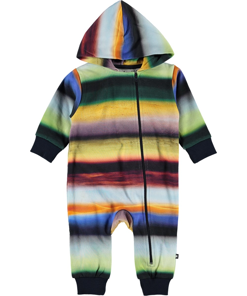 Fowo - Cosmic Rainbow - Rainbow coloured baby romper.