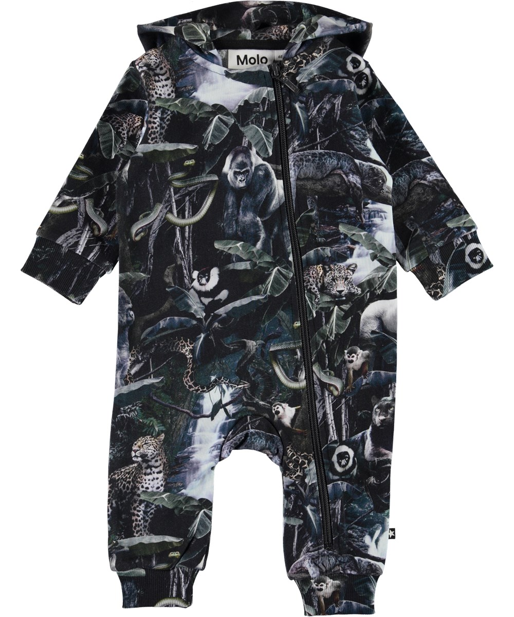 Fowo - Moonlit Jungle - Organic romper with animals
