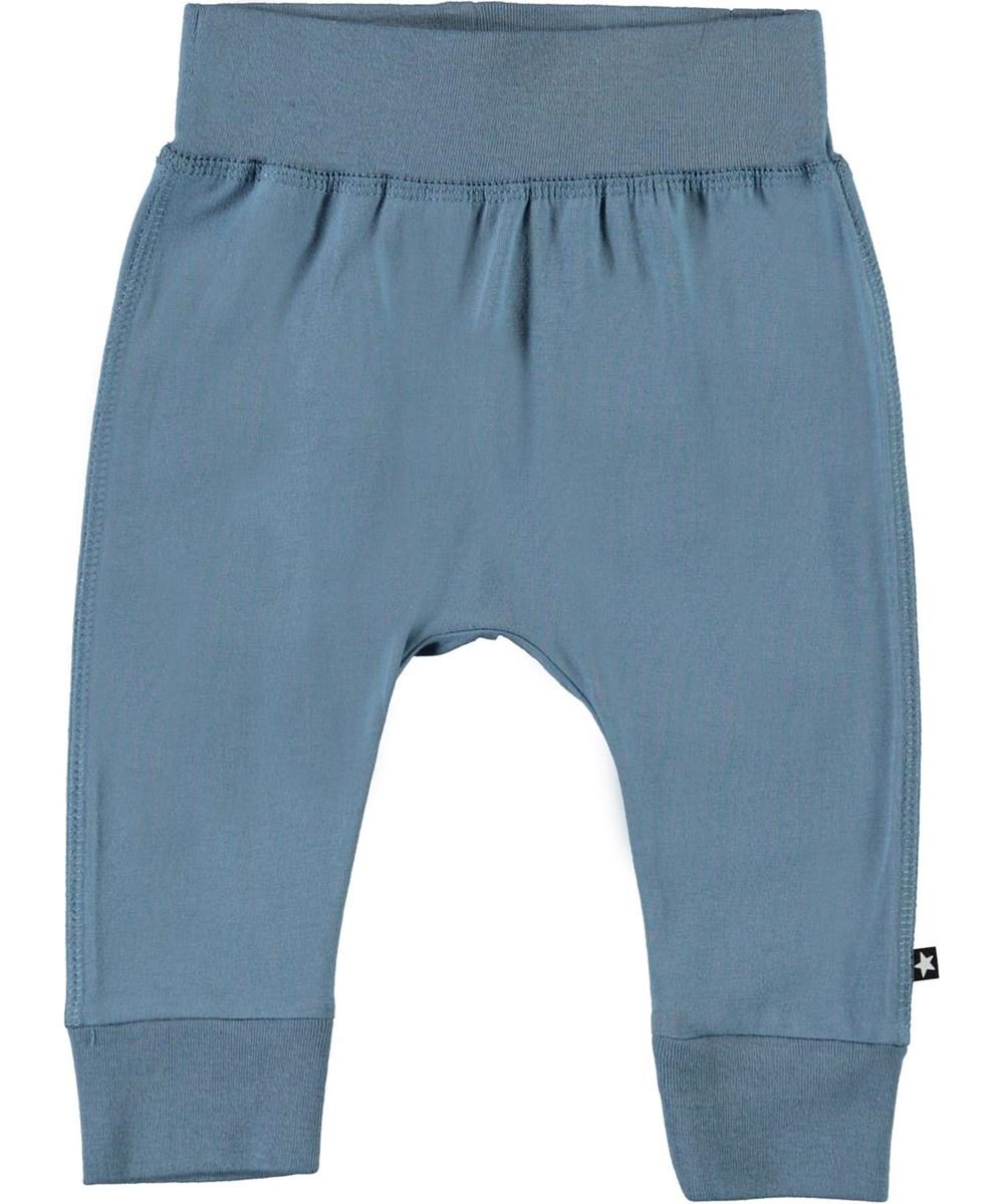 Sammy - Aero - Light blue organic baby trousers