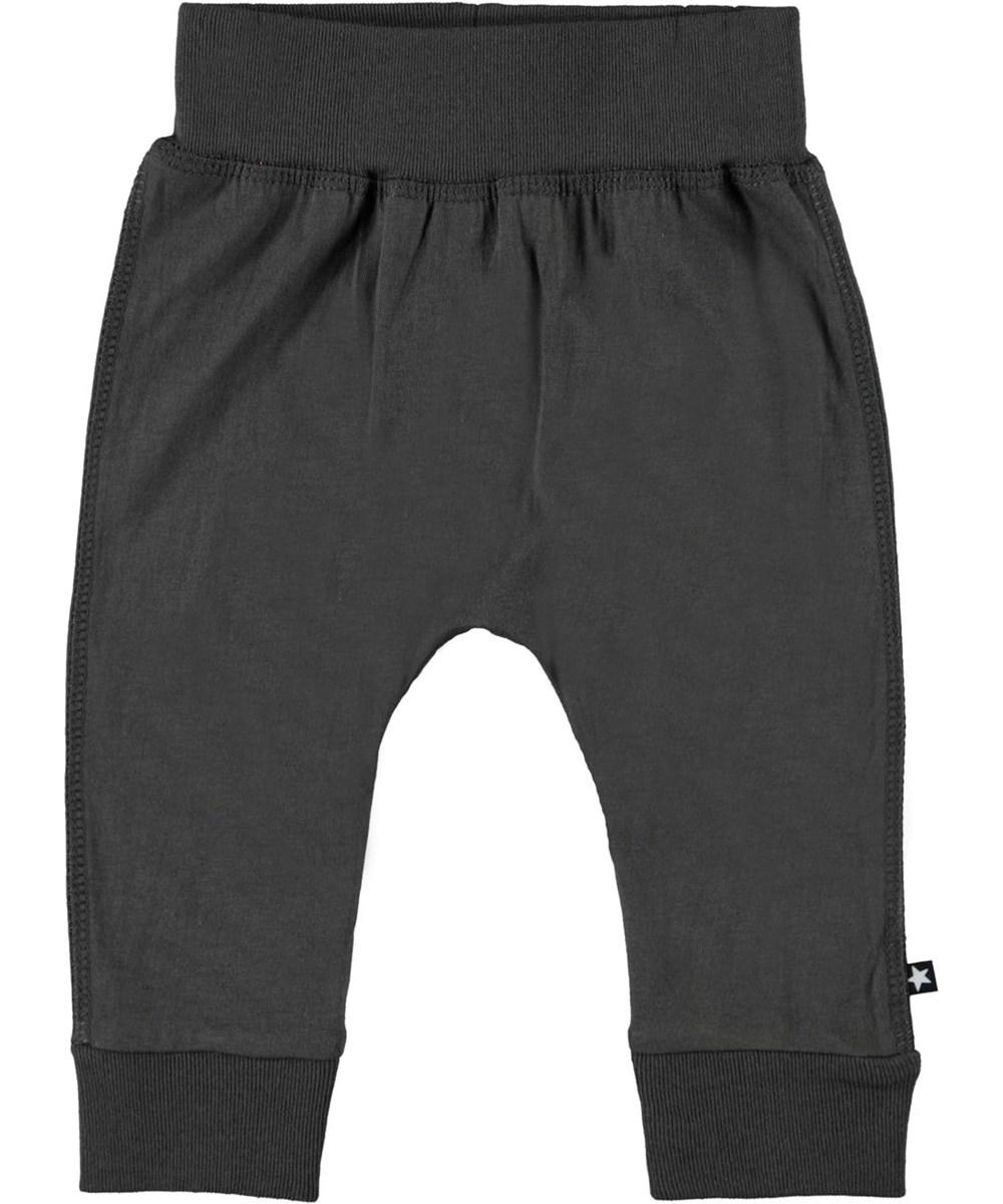 Sammy - Beluga - Grey organic baby trousers
