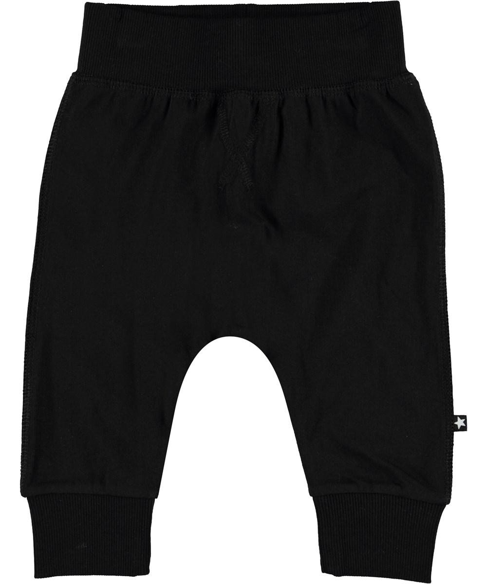 Sammy - Black - Organic black baby trousers