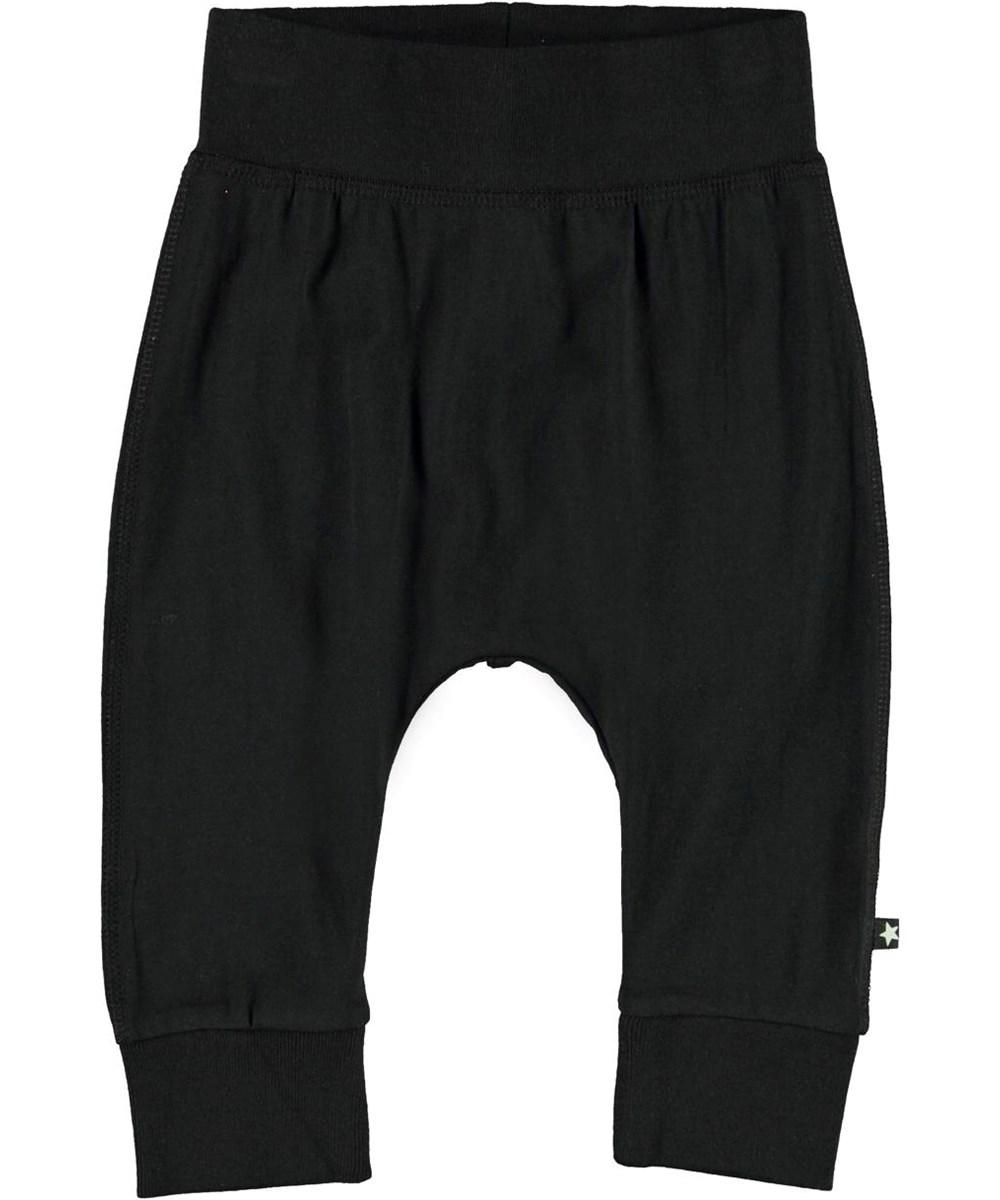Sammy - Black - Black organic baby trousers
