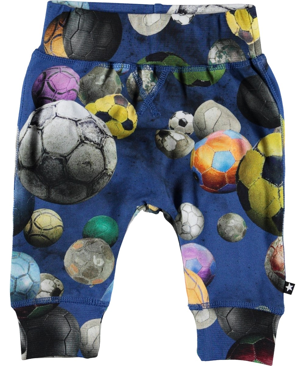 Sammy - Cosmic Footballs - Baby trousers with footballs.