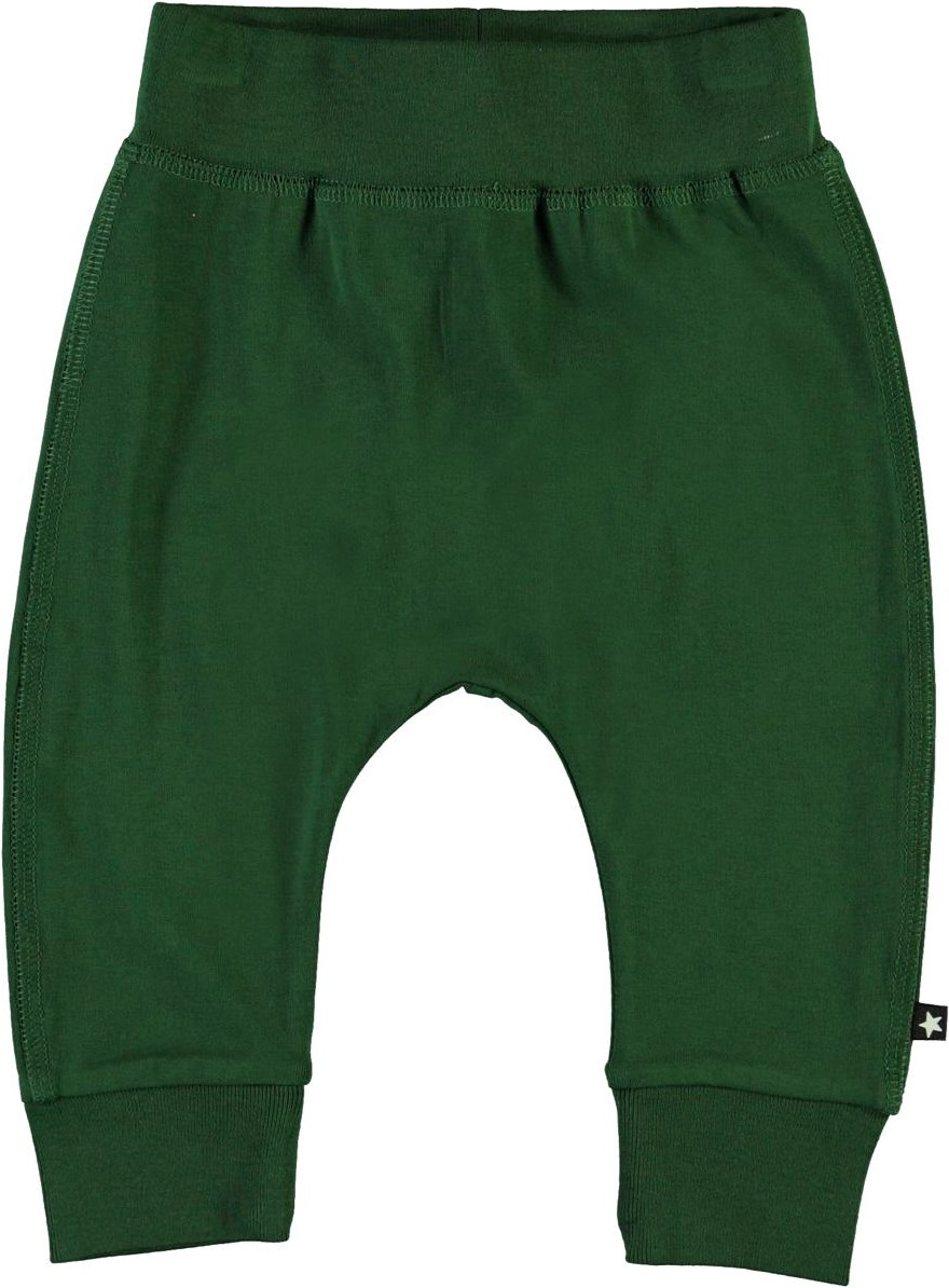 Sammy - Eden - Green organic baby trousers
