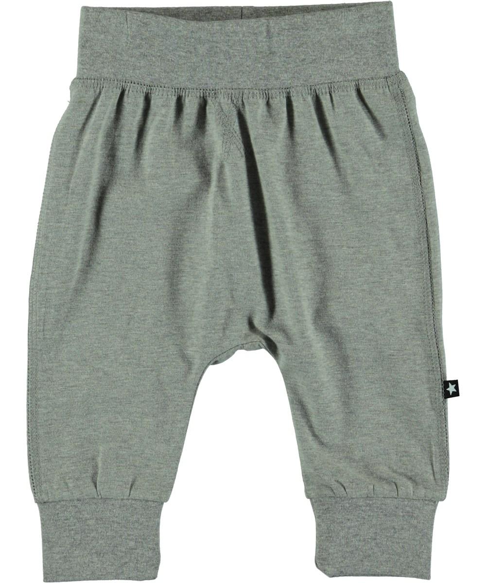 Sammy - Grey Melange - Baby Trousers- Grey Melange