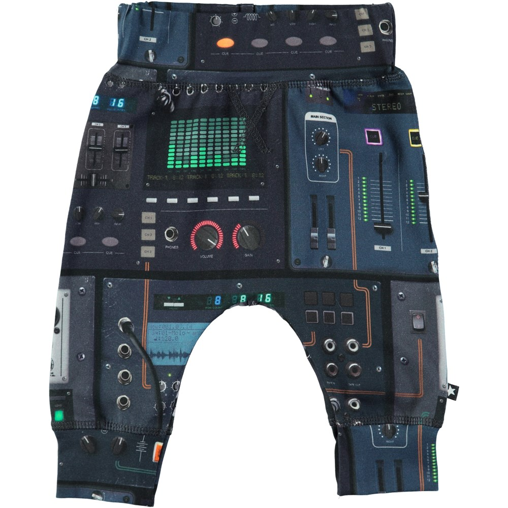 Sammy - Mixer - Roomy baby trousers with digital mixer print