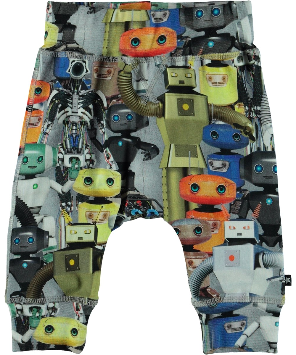 Sammy - Robots - Baby jogging trousers with robot print.