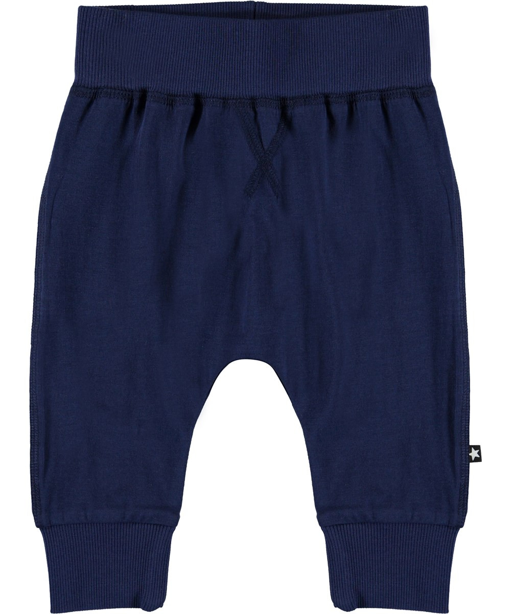 Sammy - Sailor - Organic blue baby trousers