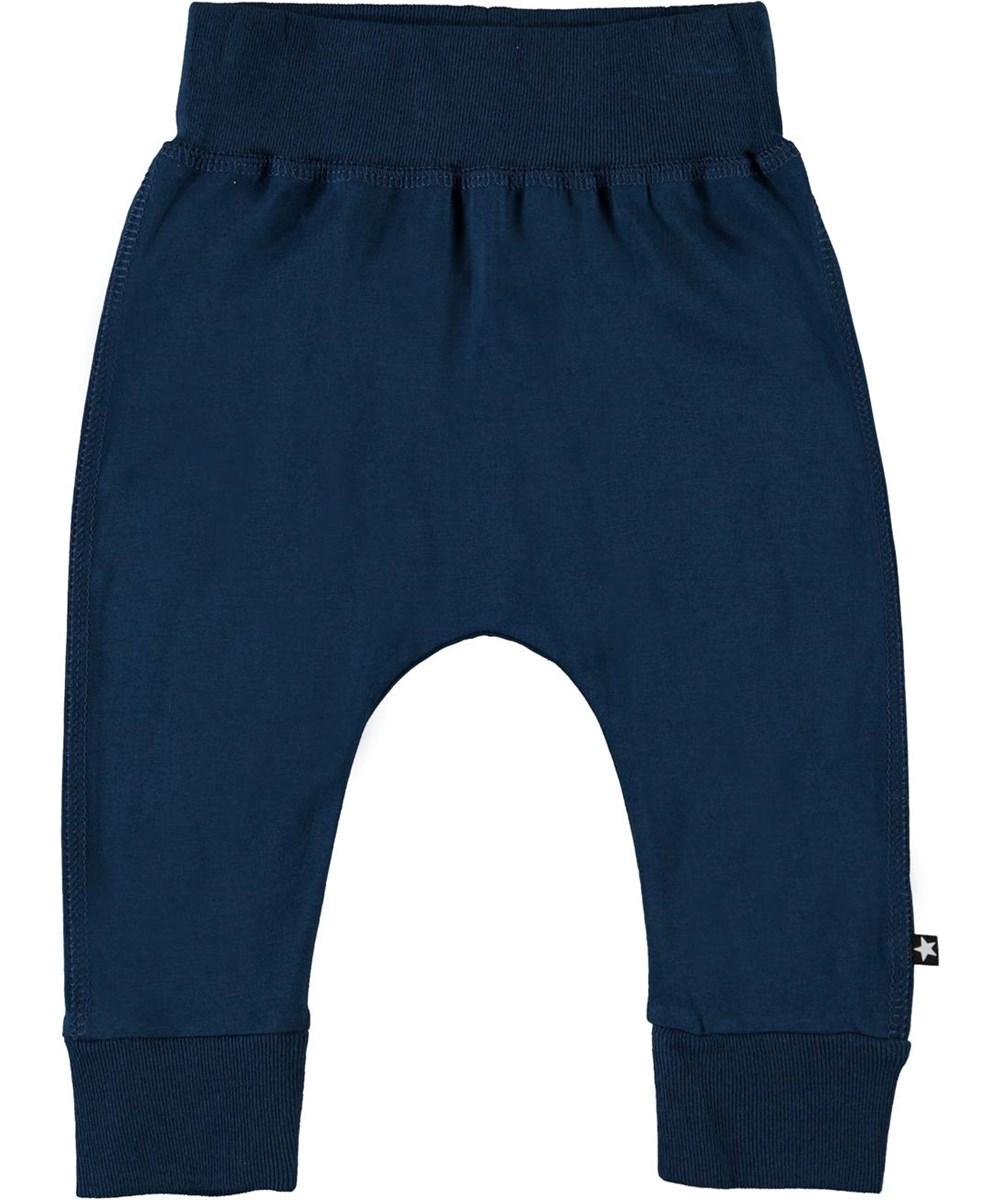 Sammy - Sea - Blue organic baby trousers