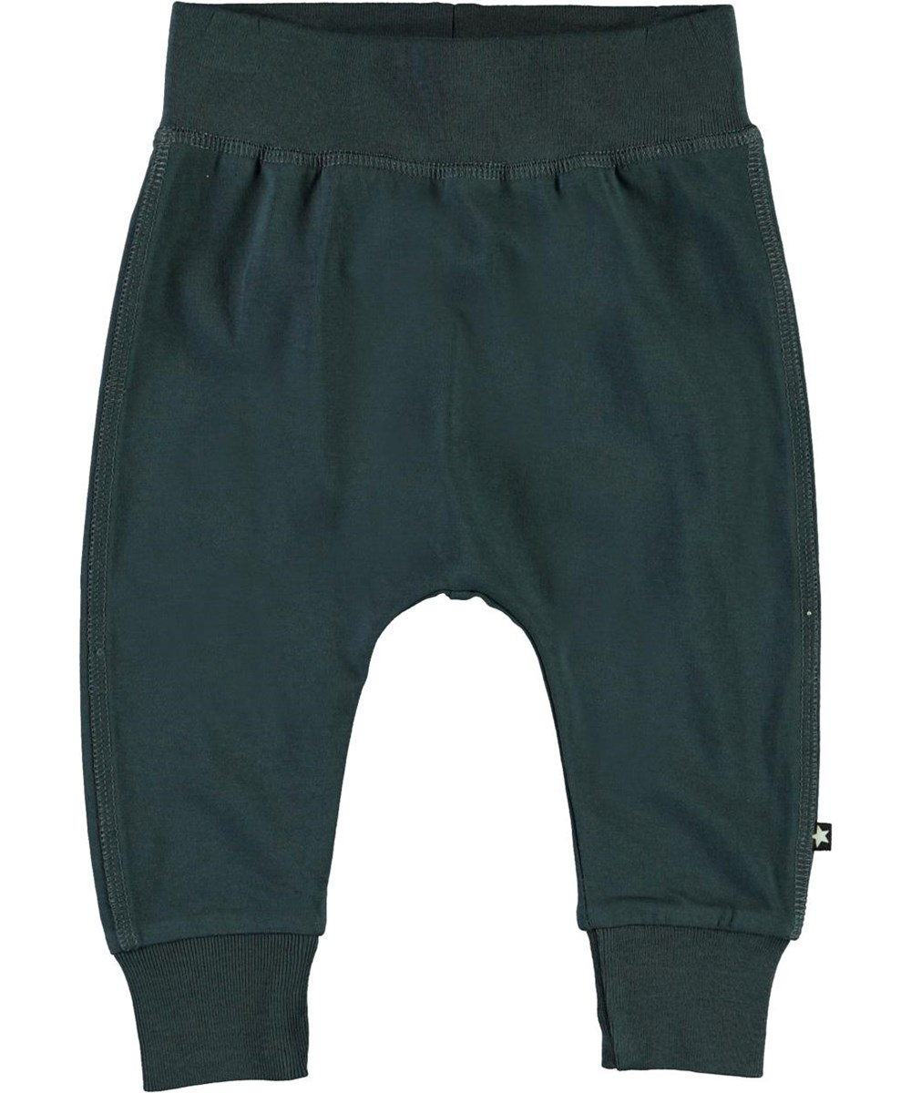 Sammy - Summer Night - Dark blue organic baby trousers