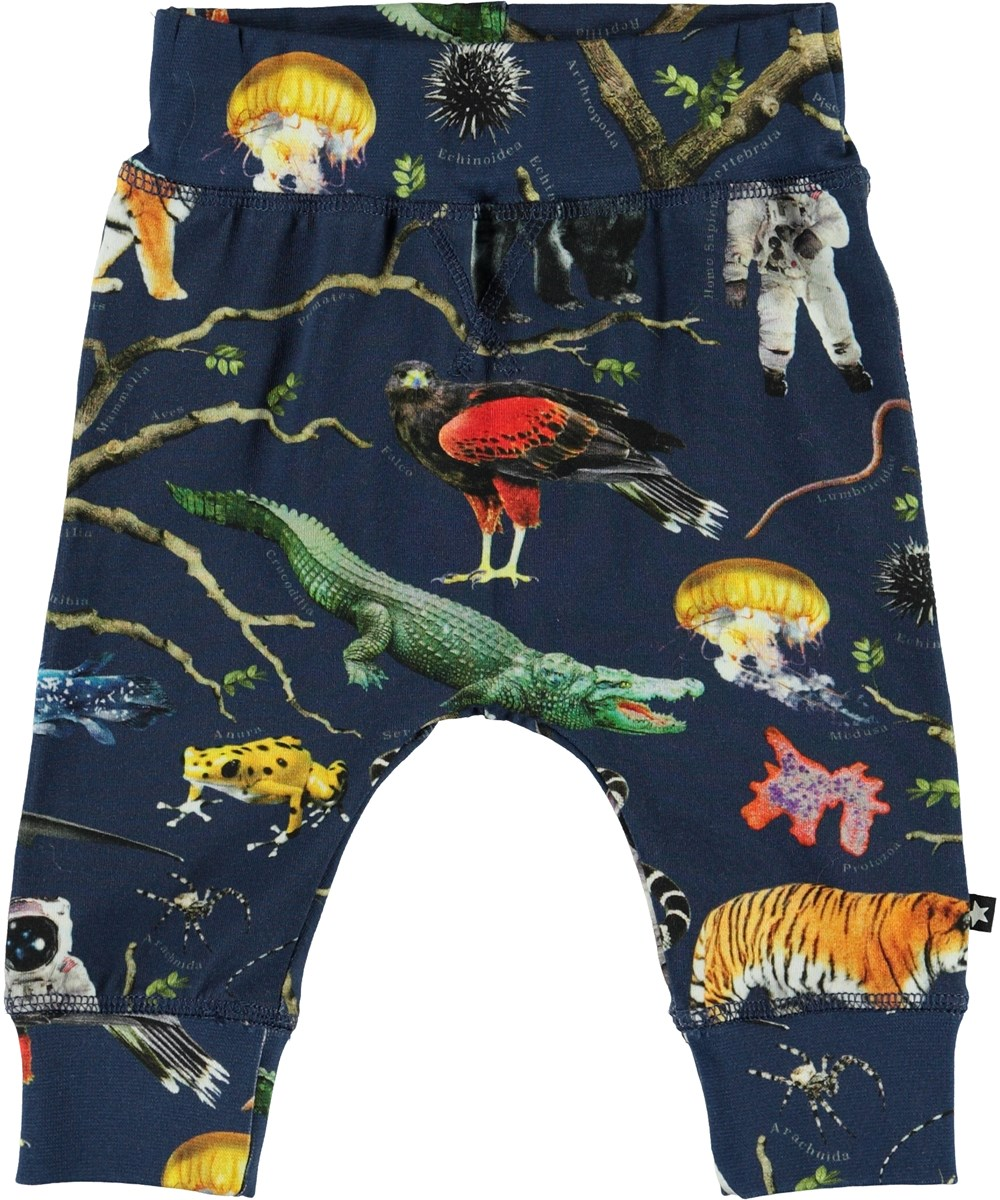 Sammy - Tree Of Life - Organic baby trousers with animals