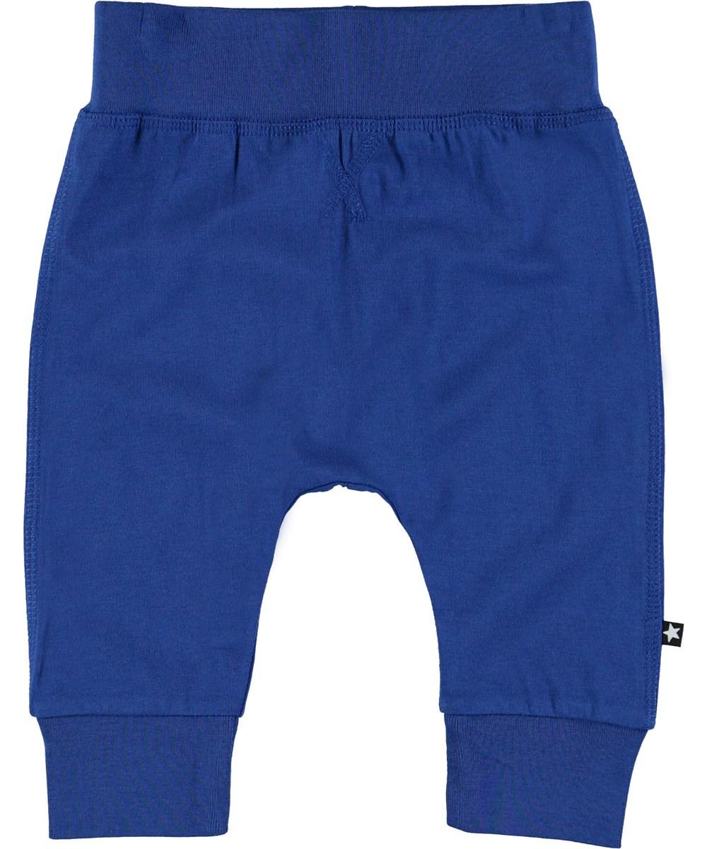 Sammy - True Blue - Blue baby trousers.