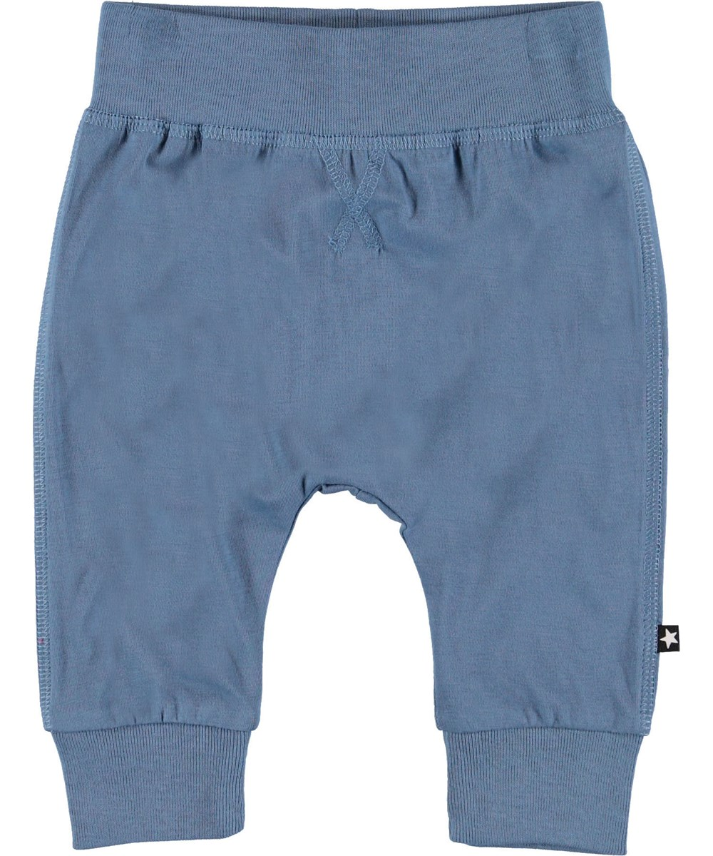 Sammy - Twilight Blue - Blue baby trousers.