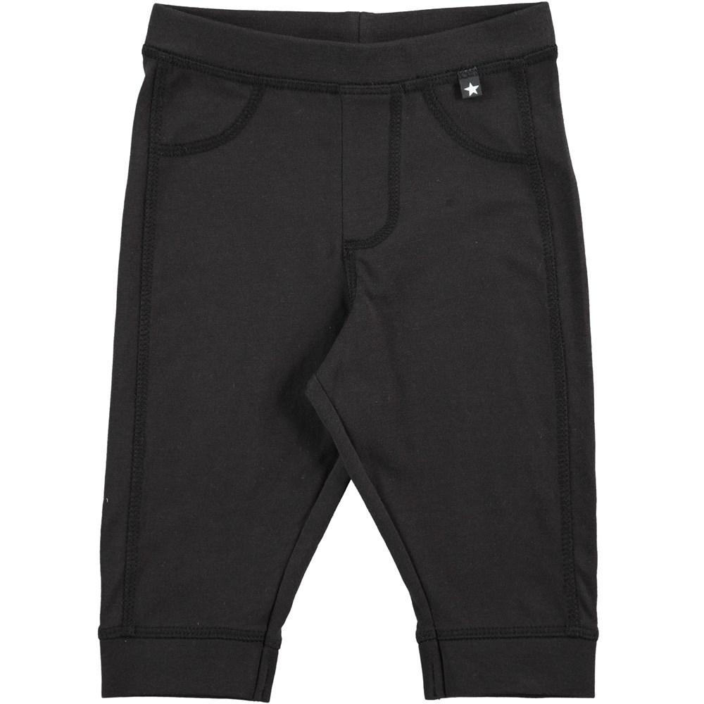 Scott - Black - Black pull on trousers