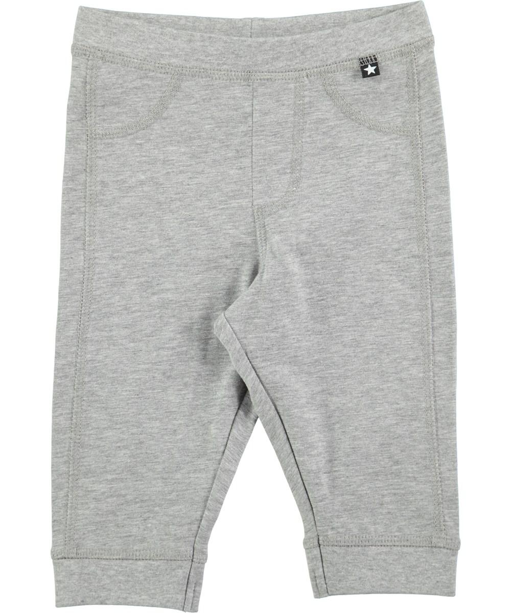 Scott - Grey Melange - Grey pull on trousers