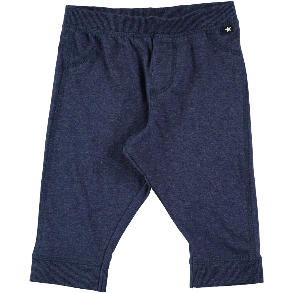 Scott - Infinity Melange - Dark blue baby trousers