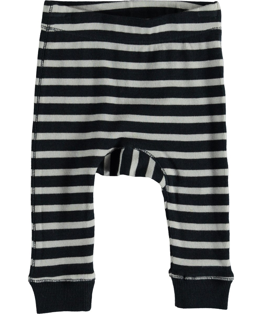 Seb - Carbon Stripe - Baby trousers with stripes.