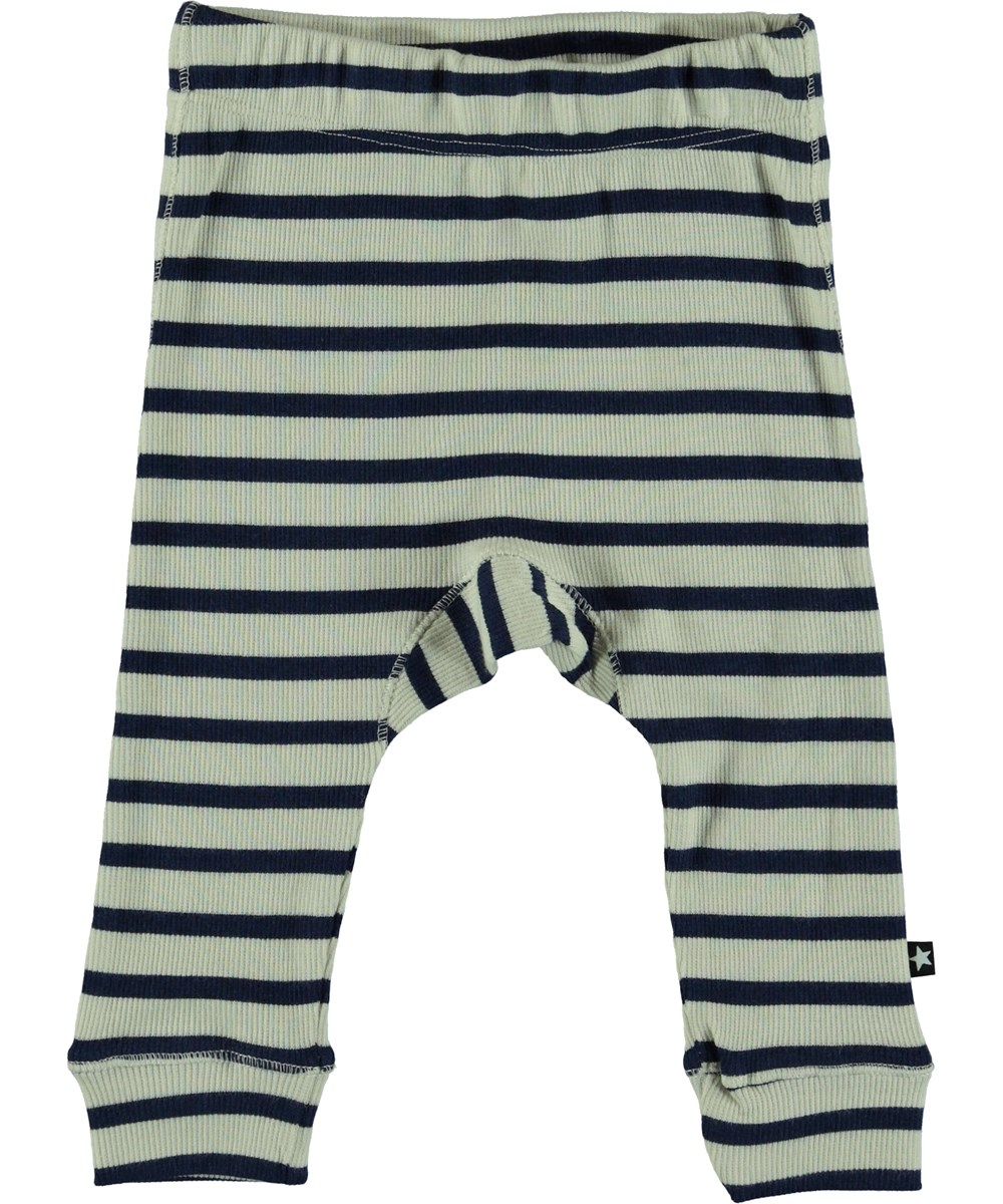 Seb - Sailor Blue Stripe - Baby Trousers