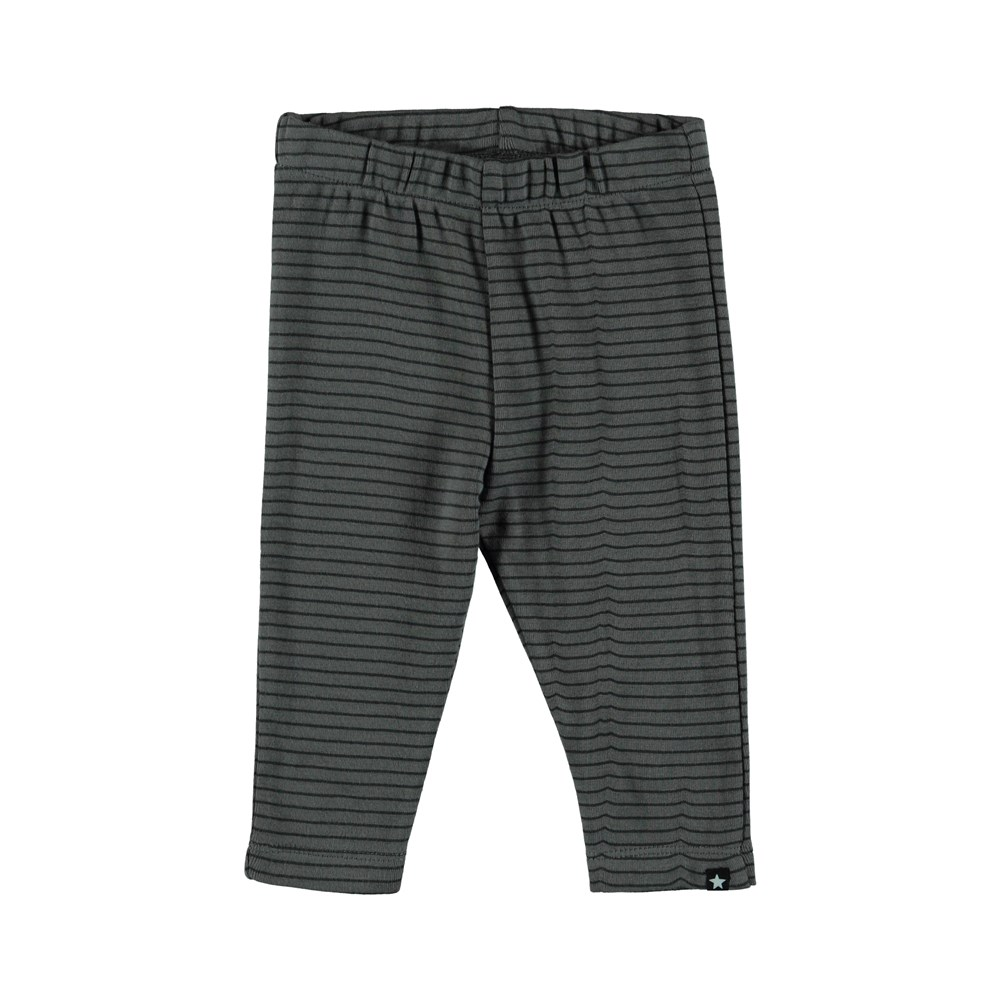 Sej - Pewter Stripe - Striped baby trousers.