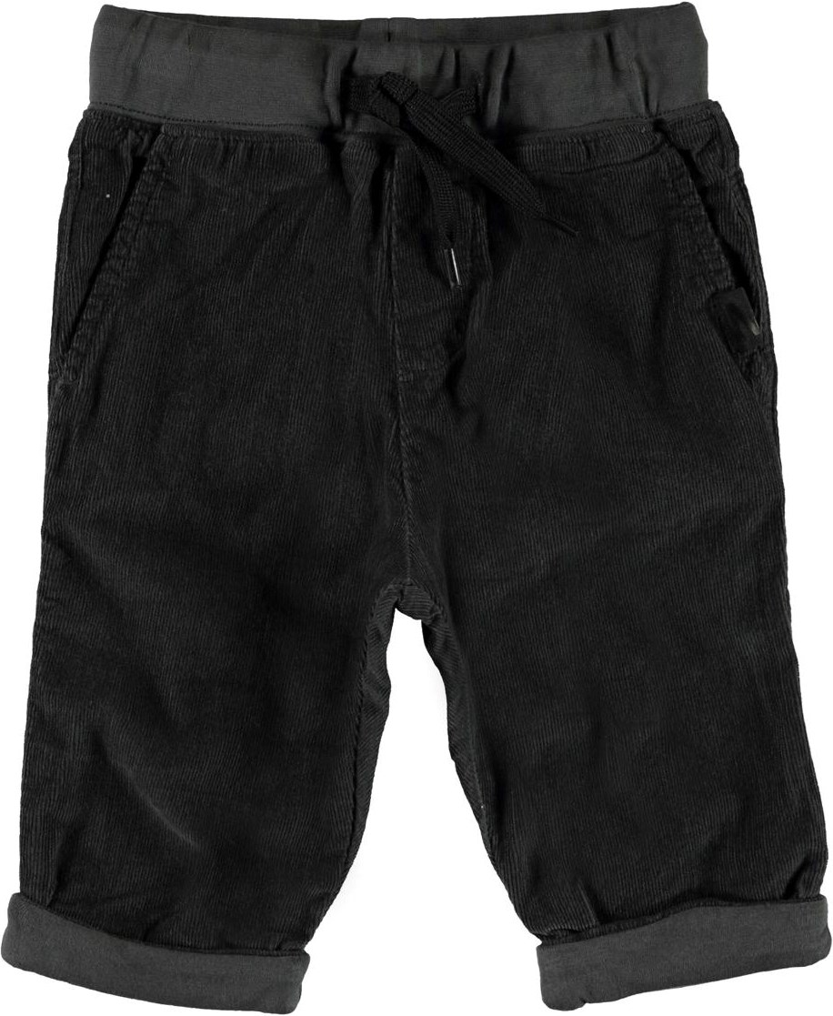 Severu - Night Grey - Grey corduroy baby trousers