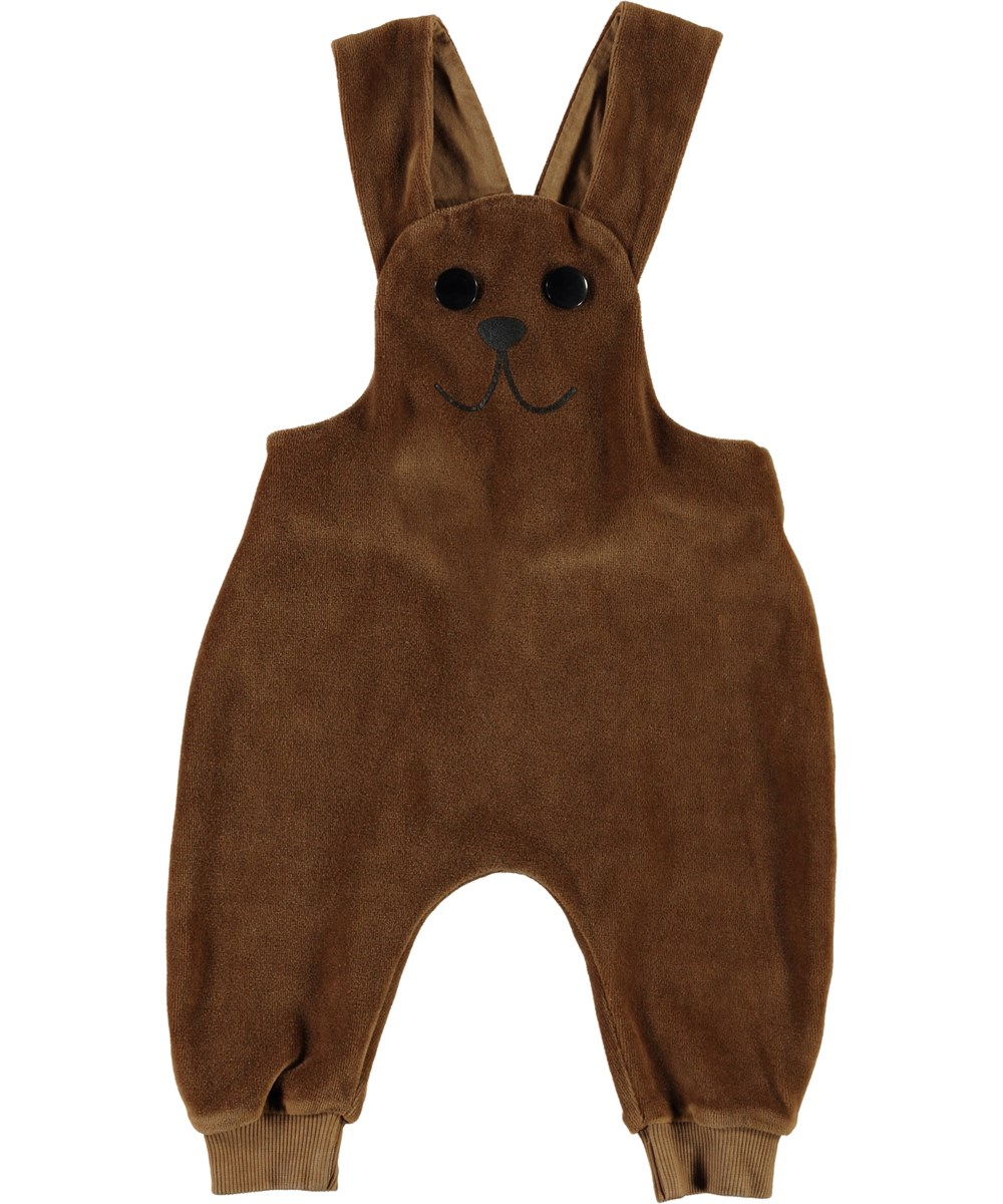 Snurre - Emperador - Baby dungarees in brown velour