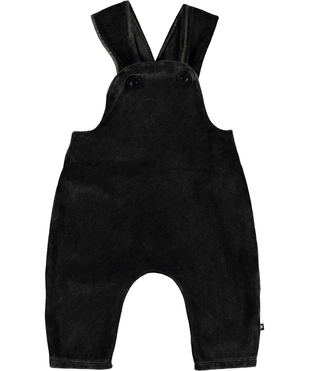 Snurre - Pirate Black - Baby dungarees with rabbit motif.