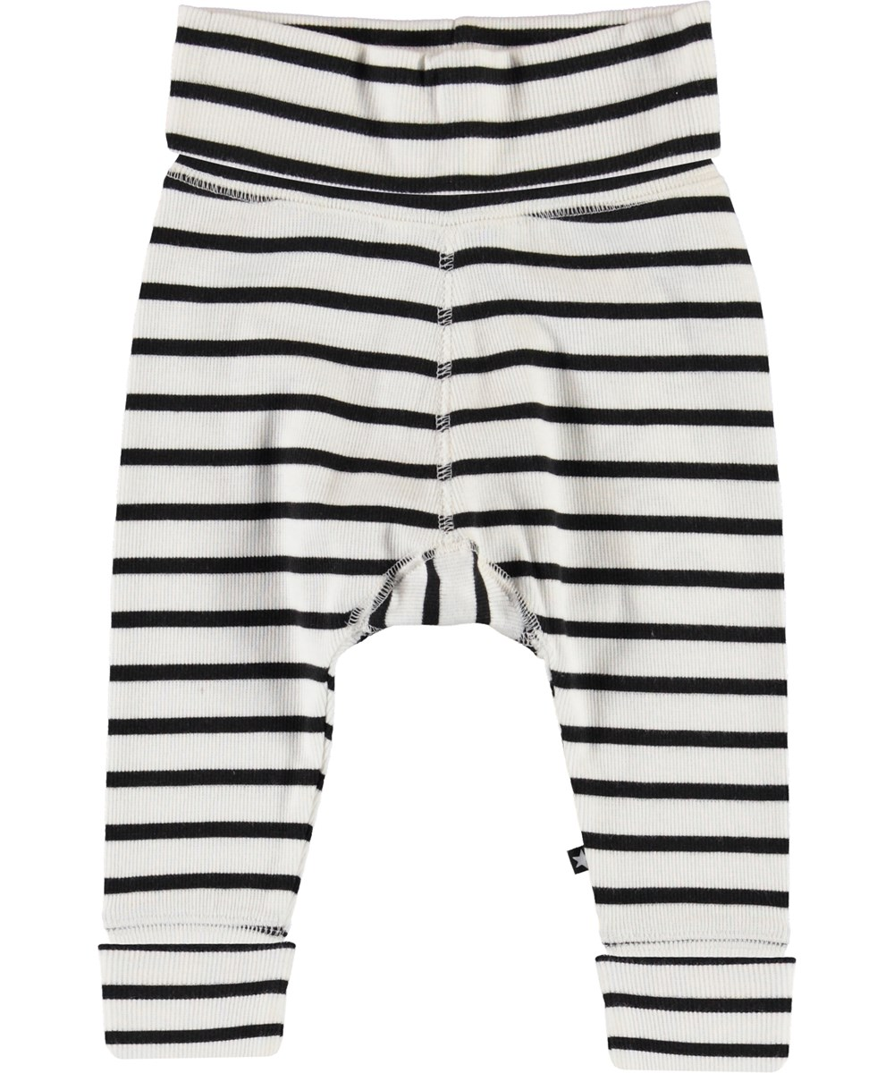 Son - Black Stripe - Black and white striped baby trousers