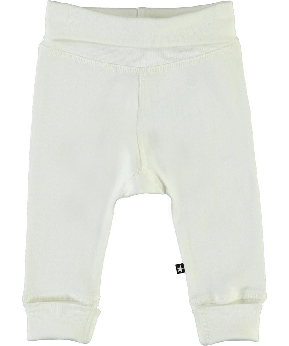 Son - White Star - White organic baby trousers