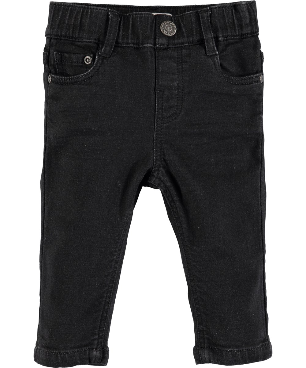 Sonny - Black Blast - Black baby denim jeans with stretch