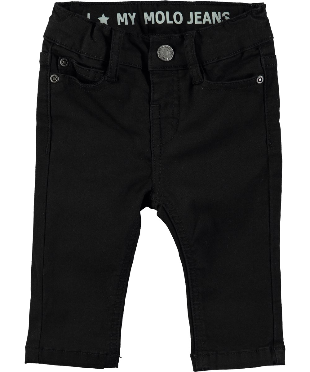 Sonny - Washed Black - Cool jeans with elastic waist
