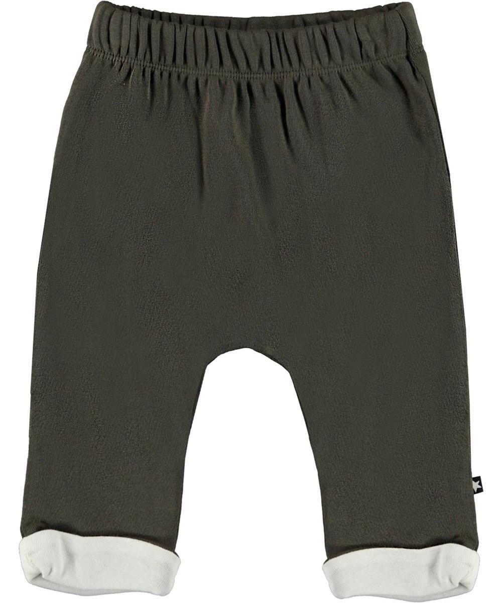 Soyo - Beluga - Grey organic baby trousers